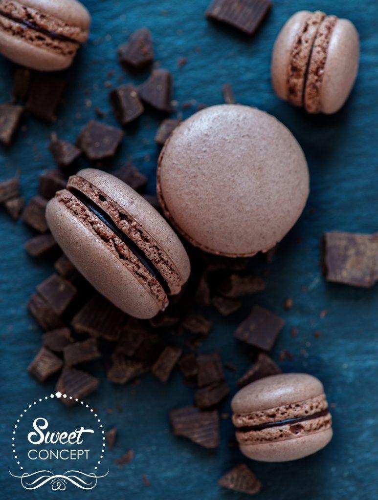 macarons ciocolata